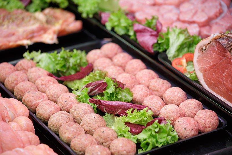 Polpettine pronte da cuocere con ingredienti selezionati